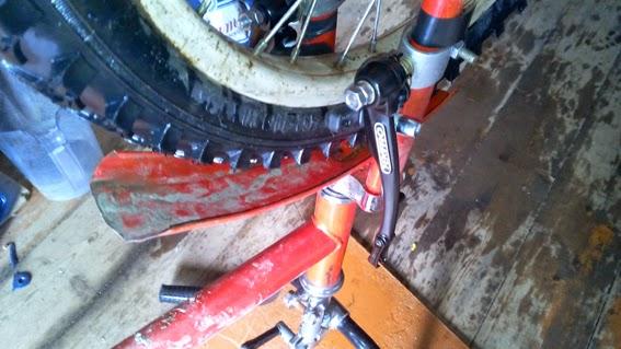 Как поставить велотормоз ручной на старый велосипед