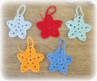 image christmas star ornament crochet