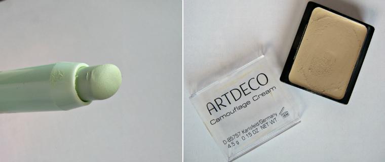 Green corrector reddness max factor cc corrector artdeco camouflage cream1