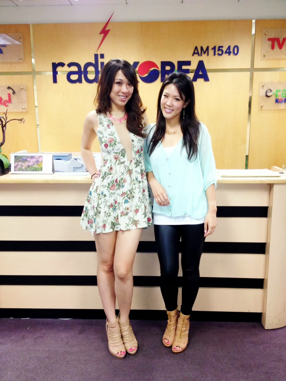 radio, talk radio, talk show, fashion, fun, trends, eat, shop, laugh, asian, girls, cute, dressy, mint, floral, lulu, for love and lemons, pumps, heels, stilettos, sneakers, tobi, long hair, am radio, music