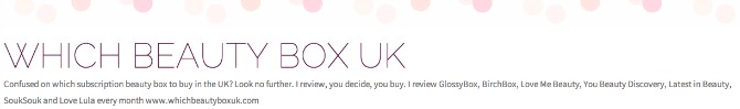 which beauty box uk banner