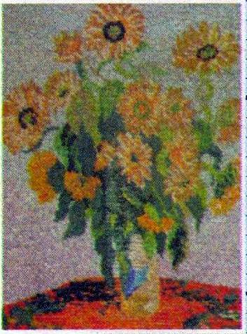 Цветы подсолнухи вышивка