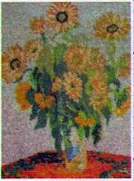 Цветы подсолнухи. Схема вышивки бисером