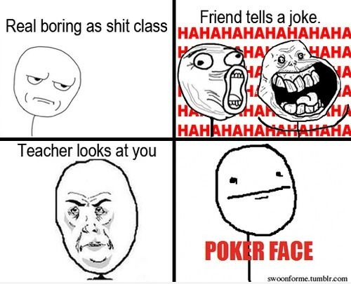 play 5 of a kind poker face meaning