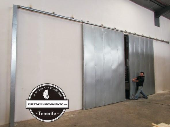 Puertas garaje tenerife puerta corredera cortafuegos de 2 for Puerta garaje metalica