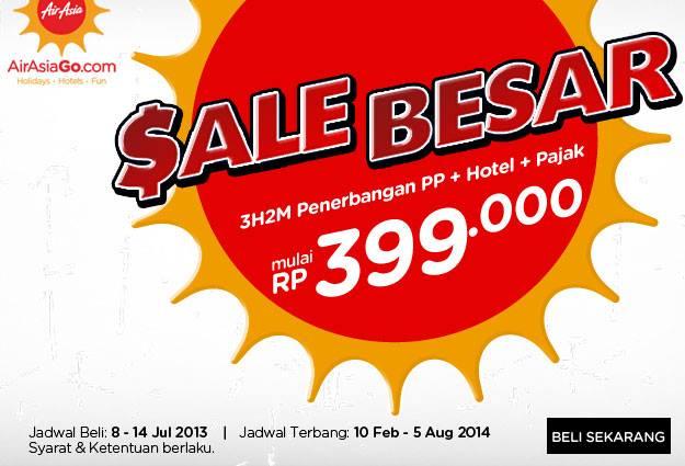 Promo Air Asia Terbaru Sale Besar 3H2M Penerbangan PP + Pajak + Hotel Mulai mulai Rp.399.000