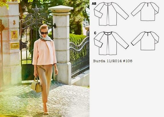 Burda_11_2014_105_pleat_neck_top