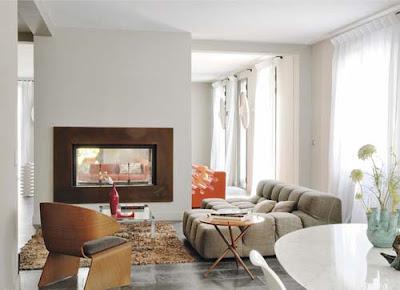 espectacular sala con chimenea