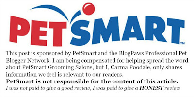 PetSmart logo with blog clause