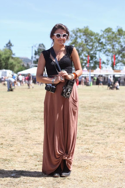 Moda - Maxissaia e saia rosa com nós - tendências verão 2015