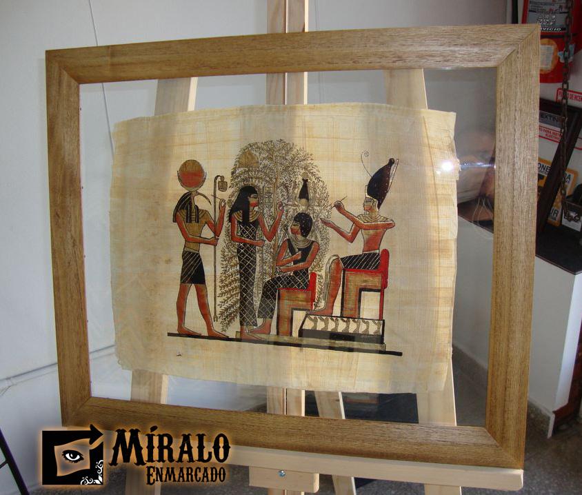 Enmarcado de papiro egipcio marco chato con lustre color for Marcos vidrio para cuadros