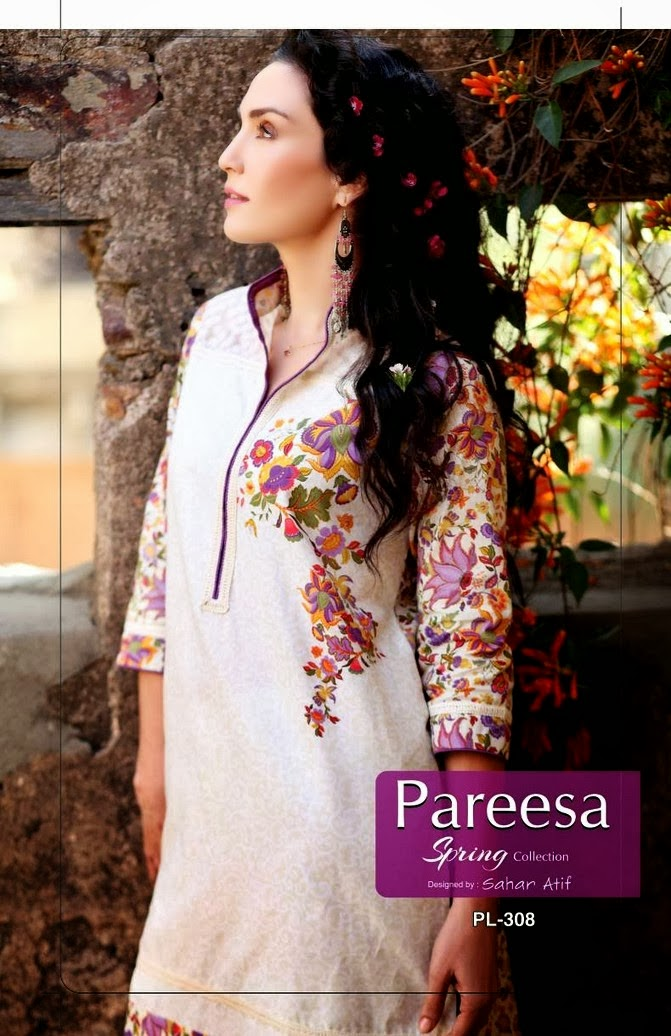 Pareesa Exclusive Summer Lawn by Sahar Atif