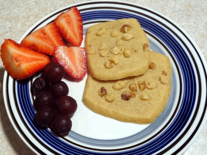 sugar cookies, after school snack, fresh fruit,