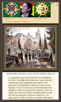 SANT CUGAT-MONASTERIO-PINTURAS-ERNEST DESCALS