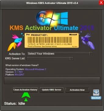 Windows Vista - 7 - 8 - 8.1 KMS Activator Ultimate 2015 2.4