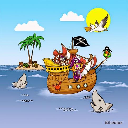 barco pirata niña