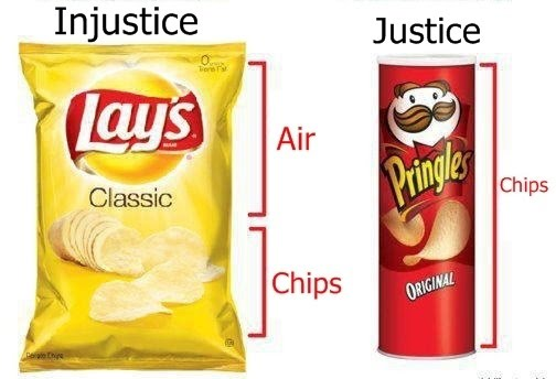 Injustice vs Justice - Bag of air