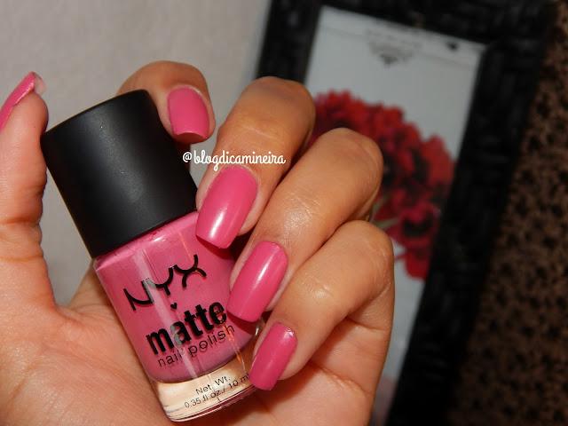 Fundo do Baú: Esmalte Pink Matte NYX