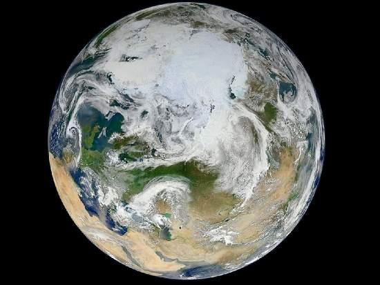 """NASA mostra Terra vista """"de cima"""""""