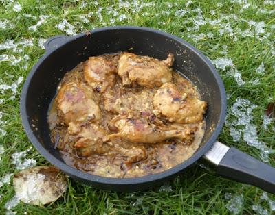 Chicken Korma (Geschmortes Hähnchen mit Zwiebel-Cashew-Gewürz-Sauce)