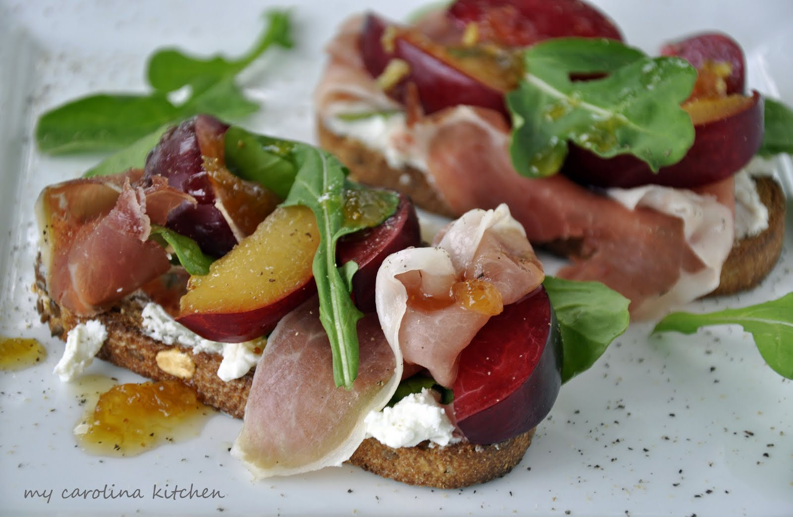 ... faced Prosciutto and Plum Sandwich with Goat Cheese and Fig Preserves