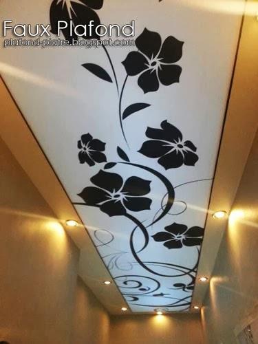 Déco plafond moderne florale de couloir « designplafond