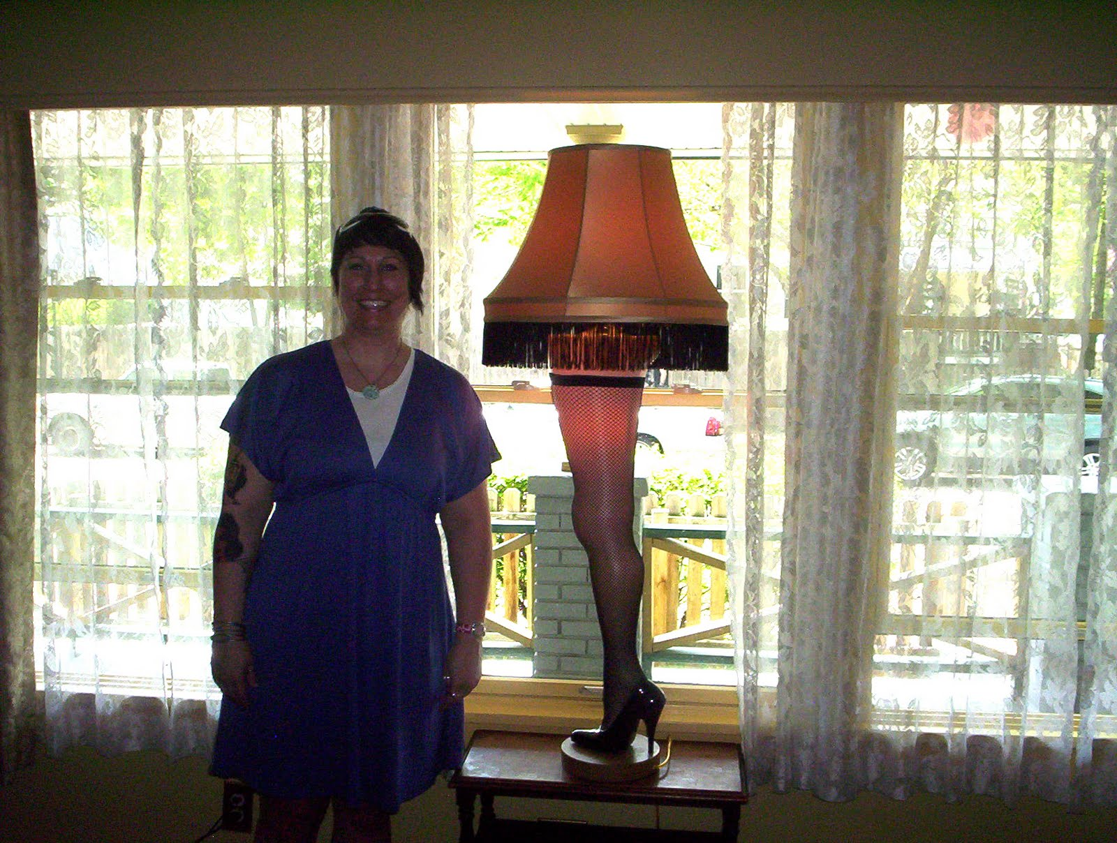 inside a christmas story house next to a major award - A Christmas Story Decorations
