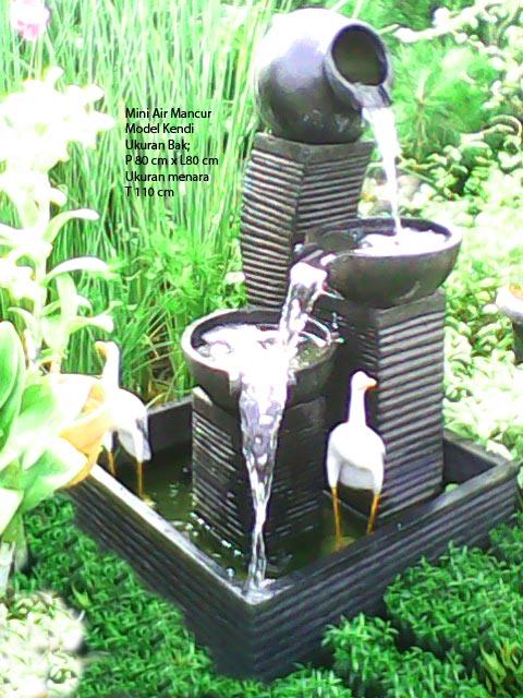 Taman Minimalis Air Mancur