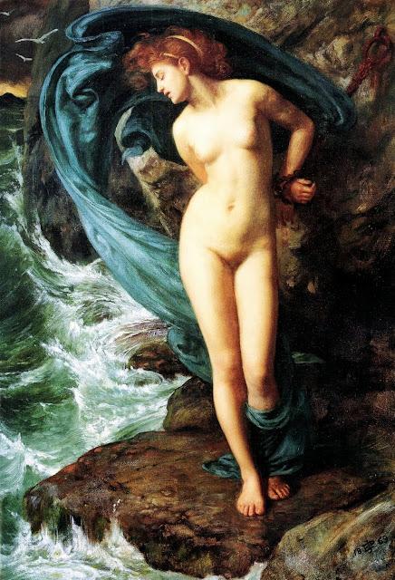 Andromeda, edward poynter,mythological painting