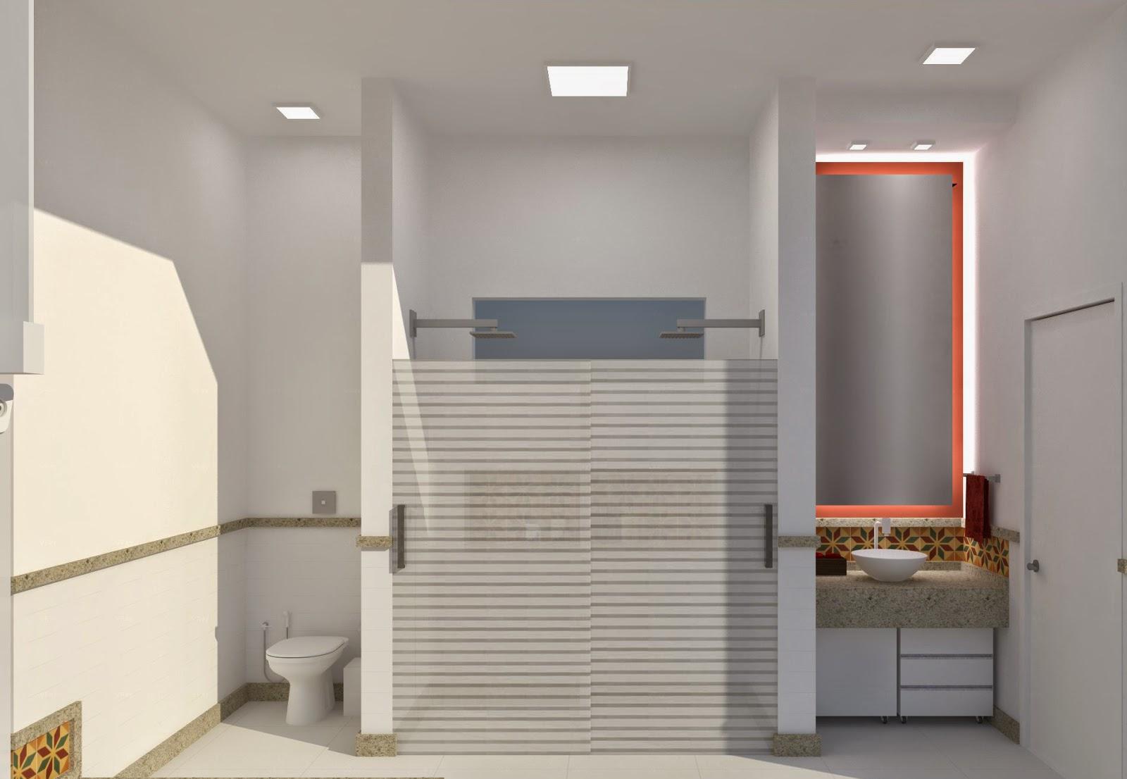 Decoração Paisagismo: Banheiros Projeto de Interior Reforma #A33F28 1600 1106