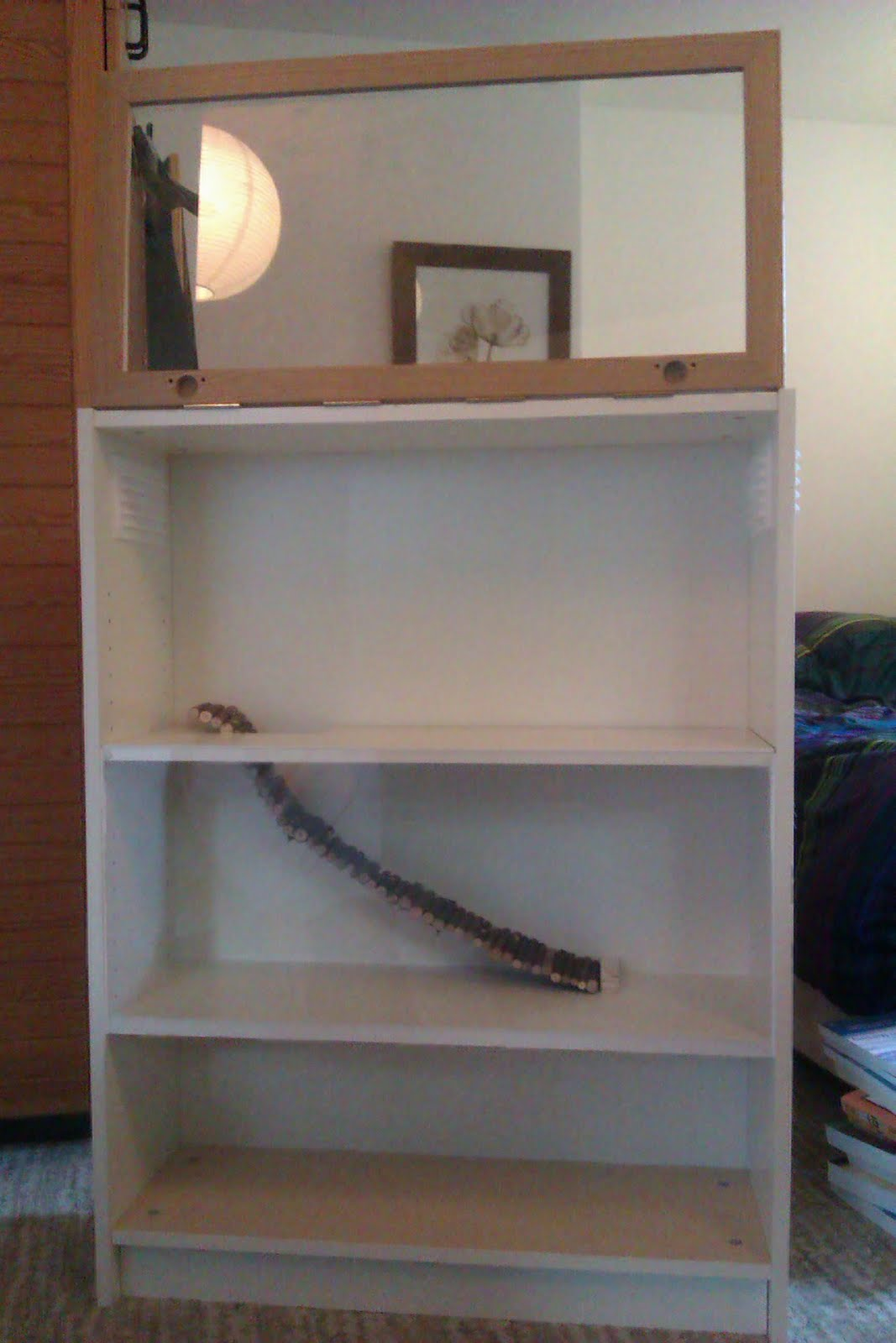Home make your own two storey hamster apartment for Ikea hamster cage