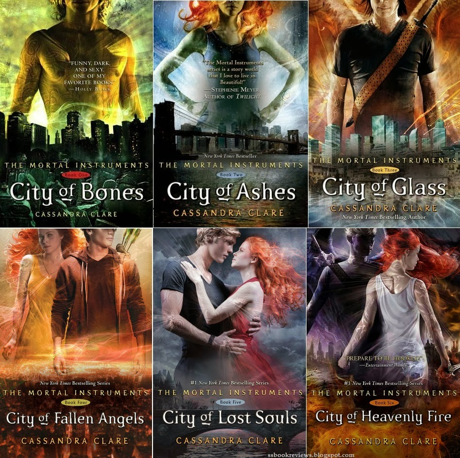 Series Review: The Mortal Instruments, By Cassandra Clare The Complete Set! City of Bones City of Ashes City of Glass City of Fallen Angels City of Lost Souls City of Heavenly Fire (expected publication May 2014)