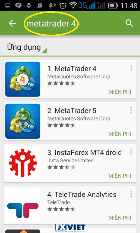 phan mem metatrader4 cho smartphone - mobile android - ios - iphone - tablet - ipad
