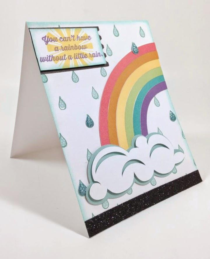 Cricut Rainbow card sideview