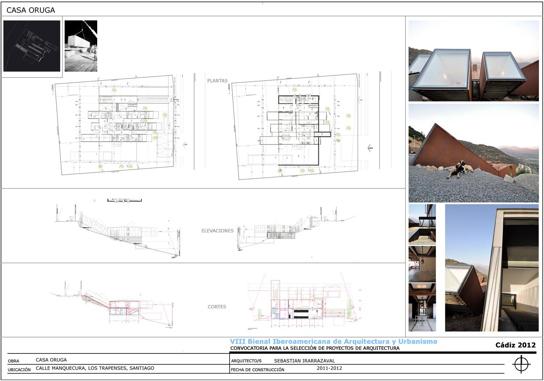 Sebastian irarrazaval arquitectos casa oruga de - Arquitectos cadiz ...