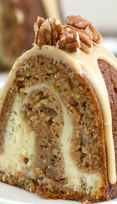 Praline Cake With Cream Cheese Filling