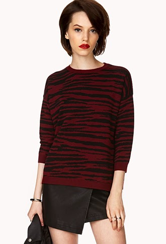 berry print sweater