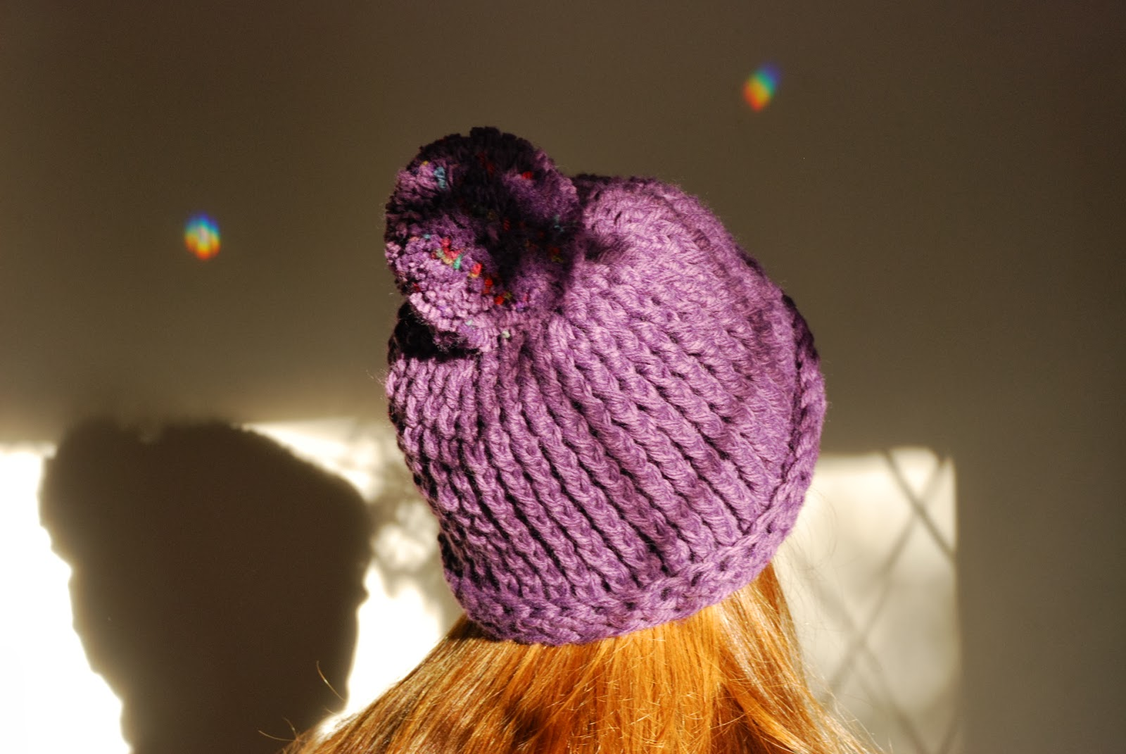 image of chunky crochet bobble hat