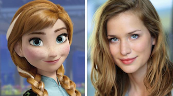 Foto Putri Anna Film Frozen Gambar Pemain Asli Dunia Nyata