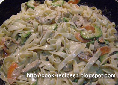 Cook Recipes, Pasta and Macaroni Recipes, Simple Chicken Recipes: Pasta Fettuccine with Chicken