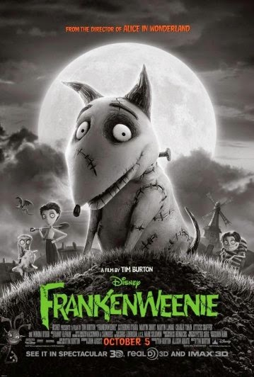Portada película Frankenweenie