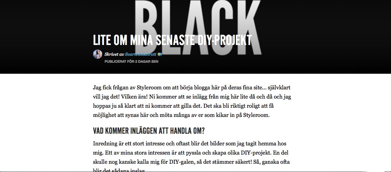 styleroom, utvald bloggare, skriva blogginlägg för Styleroom, blogginläggen, göra inlägg på blogg, sveriges största inredningsblogg, inredningscommunity,