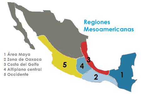 regiones culturales mesoamericanas