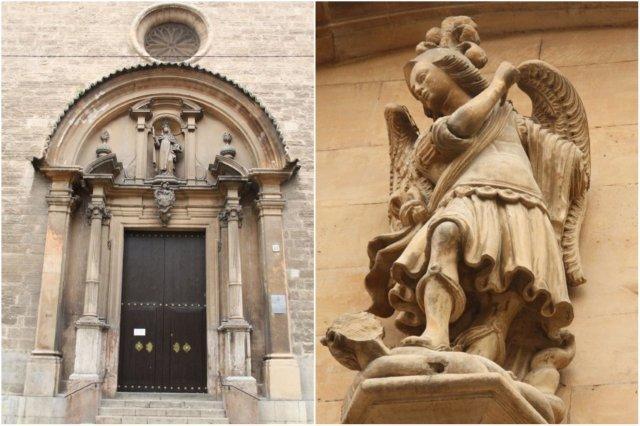 Iglesia de Santa Cruz en Palma de Mallorca - Detalle