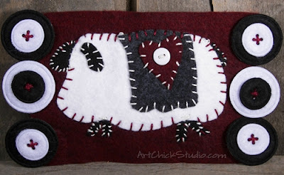 Primitive Sheep Penny Rug Felt Craft