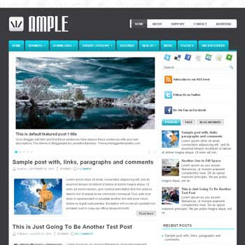 Ample blog template. template image slider blog. magazine blogger template style. wordpress theme to blogger. template blog 3 column footer