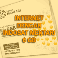 Internetan Dengan Indosat Mentari 6GB Ngacir!