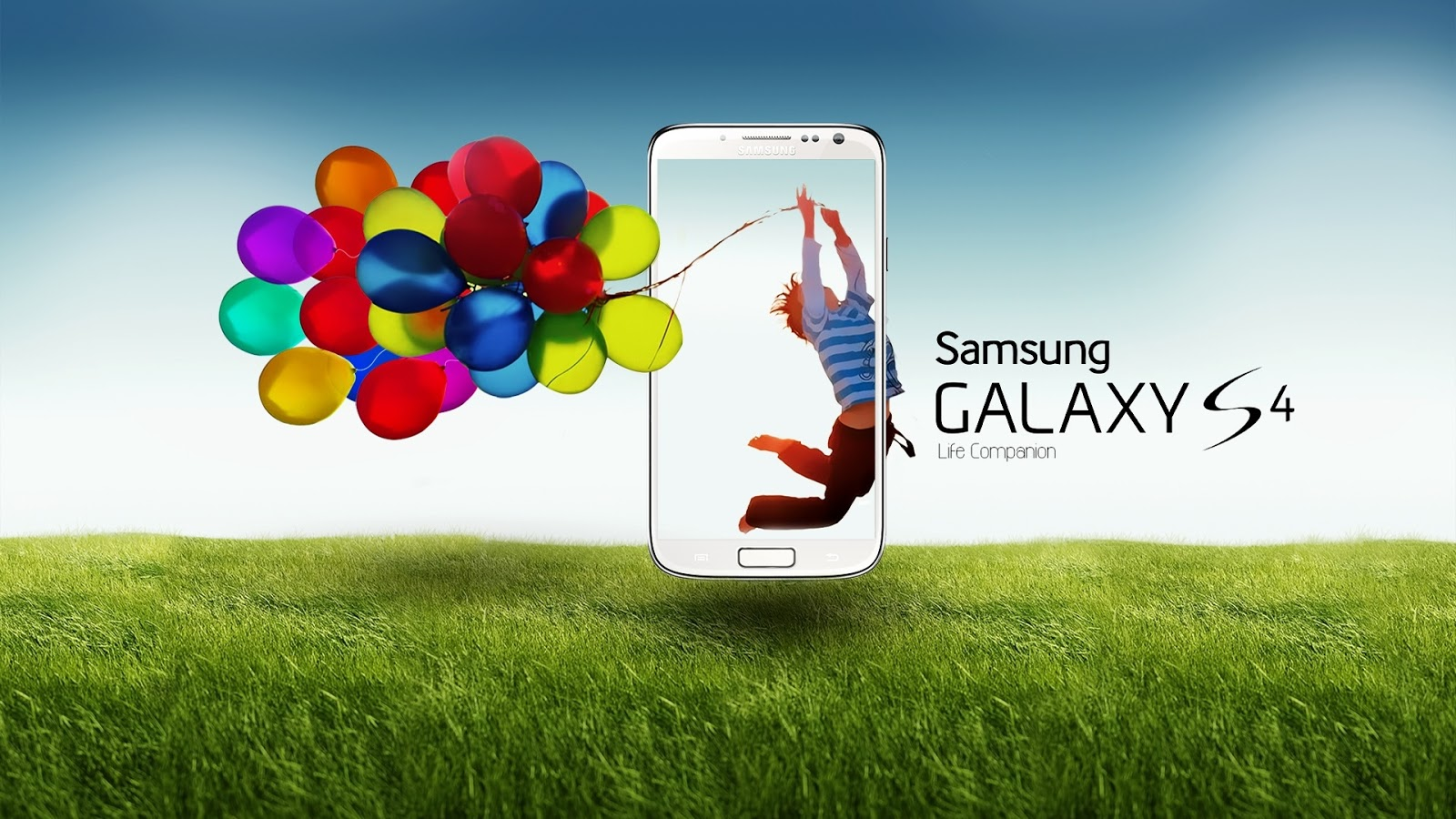 hd wallpapers: samsung galaxy s4 life companion