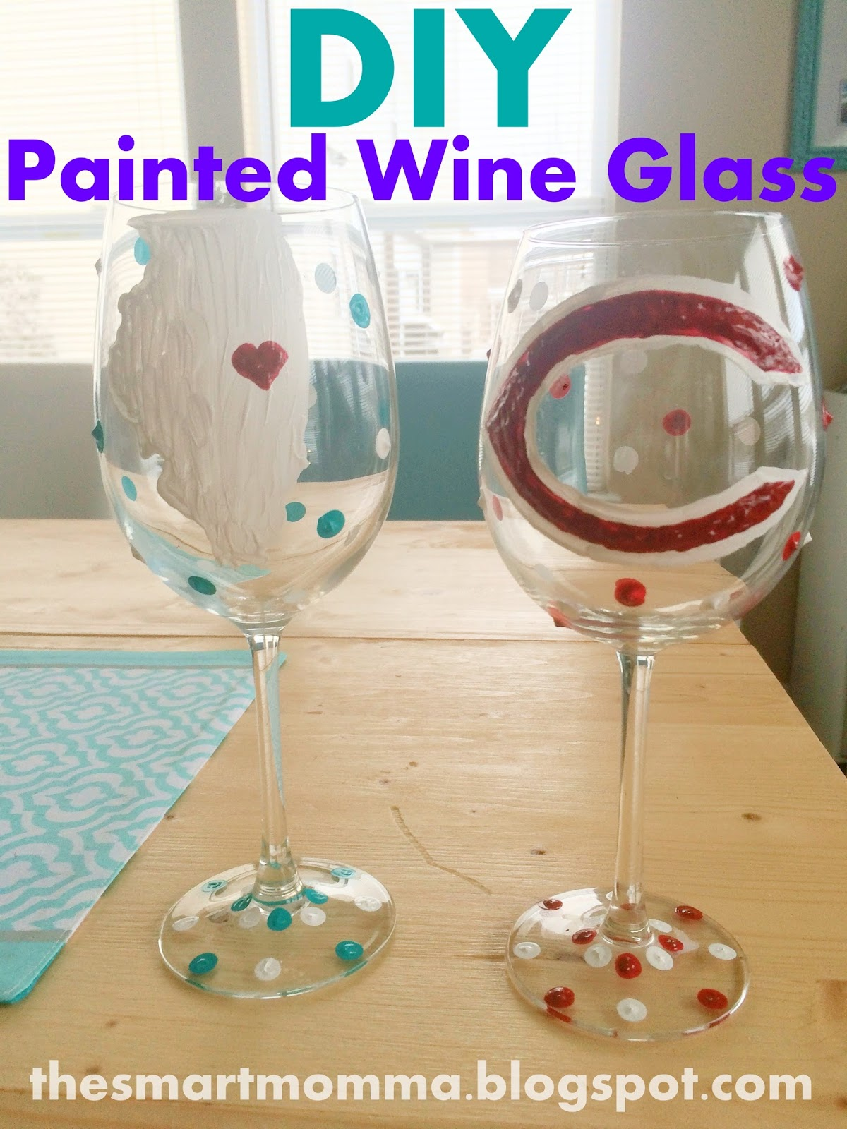 The smart momma diy painted wine glasses for Diy painted wine glasses