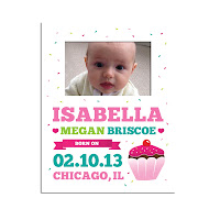 Psychobaby Sweet Stuff Birth Announcement Picture Frame